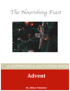 advent copywork cover page